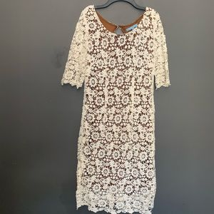 Antonio Melani Cream Lace Dress